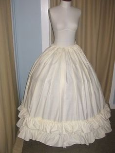DIY hoop skirt. If I ever get this good at sewing, it might be neat to make for halloween or a costume party or something