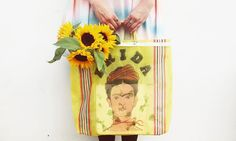 Frida Kahlo Shopping Bag from Rock n Roses - https://www.rocknrose.co.uk/products/frida-kahlo-shopper-bag - picture via Jessica Lathan (@jesslathan) on Instagram