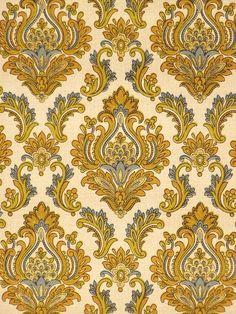 Retro vintage wallpaper in baroque style