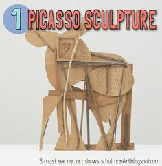 "sculpture-center: ""WHAT'S ON: Picasso Sculpture. September 2015 - February The Museum of Modern Art, 11 West 53 Street, New York, NY Pablo Picasso (Spanish, Bull. Kunst Picasso, Picasso Art, Picasso Portraits, Picasso Paintings, Cardboard Sculpture, Sculpture Art, Sculpture Museum, Cardboard Art, Art Museum"