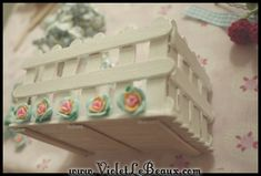 Popsicle Stick Craft Tutorial- White Picket Fence Make Up Box - Violet LeBeaux - Free Cute Craft and Beauty Tutorials