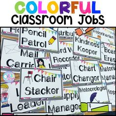 Students LOVE these colorful classroom jobs - perfect for any elementary classroom! Classroom jobs are the easiest way to quickly improve your classroom management!