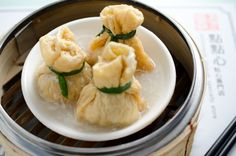Dim Sum ~ steamed pork , shrimp on bean curd sheets