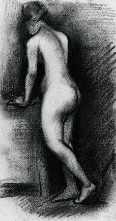 Female Nude, Standing - Vincent van Gogh, 1886