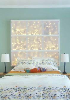 Love the fairy lights back lighting