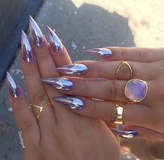 21 cool and trendy stiletto nail art designs Glam Nails, Hot Nails, Fancy Nails, Trendy Nails, Beauty Nails, Hair And Nails, Coffin Nails, Nails 2016, Colorful Nails