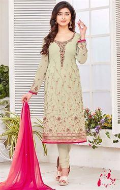 Iconic Beige Ethnic Salwar Suit