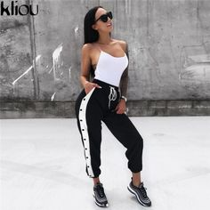 Best Sporty Outfits Part 5 Fashion Pants, Look Fashion, Urban Fashion, Fashion Outfits, Womens Fashion, Fashion Trends, Sporty Outfits, Mode Outfits, Summer Outfits