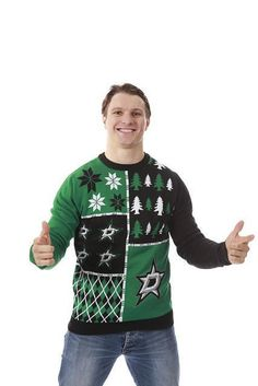 I want this sweater! And also to meet the guy wearing it!! Rousss!!!!