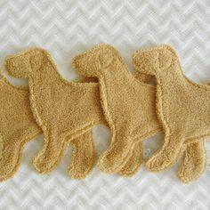 NEW! Yellow Lab Wash Cloth Dog
