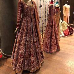 Exclusive Heavy Designer Bridal Look Maroon Color Pakistani Salwar Kameez - Stylizone Indian Wedding Gowns, Indian Bridal Outfits, Pakistani Wedding Outfits, Indian Bridal Lehenga, Indian Gowns, Pakistani Wedding Dresses, Pakistani Bridal Wear, Indian Designer Outfits, Bridal Anarkali Suits