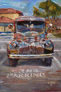 daily paintworks 1929 ford model a original fine art for sale raymond logan. Black Bedroom Furniture Sets. Home Design Ideas