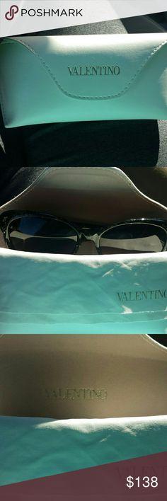 Valentino 👓 Gorgeous Valentino sunglasses in glittering forest green. Comes with cloth and case. Valentino Accessories Sunglasses