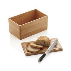 Wood Bread Box | Crate and Barrel