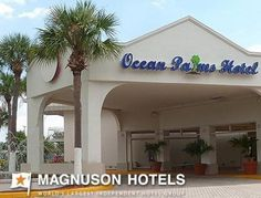 Magnuson Hotel Ocean Palms-St. Petersburg FL 33714. Upto 25% Discount   Packages. Near by Attractions include Tropicana Field, The Pier, Bayfront Center   Fort De Soto Park, Gulf Beaches, Salvador Dali Museum, Florida International Museum.   Free Parking and Free Wifi internet. Book your room and start saving with   SecureReservation. More info.- www.oceanpalmshotelstpete.com/