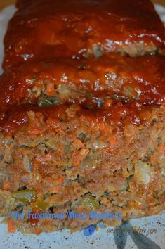 Fashioned Moist Meatloaf Old Fashioned Meatloaf at . Old Fashioned Meatloaf at . Hamburger Recipes, Ground Beef Recipes, Meat Recipes, Cooking Recipes, Moist Meatloaf Recipes, Recipes Dinner, Meatloaf Receipe, Homemade Meatloaf, Amish Recipes