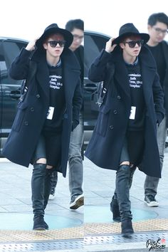 141228- BTS Jin (Kim Seokjin) @ Incheon Airport #bts #bangtanboys #fashion…