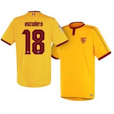 Sevilla FC Third 16-17 Season Yellow #18 Palomo Soccer Jersey [I246]