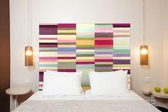 Testiera letto originale multicolor