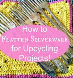 House Revivals: How to Flatten Silverware for Up-Cycling Projects! House Revivals: How to Flatten Silverware for Up-Cycling Projects! Metal Crafts, Recycled Crafts, Fork Crafts, Recycled Materials, Diy Crafts, Fork Jewelry, Jewelry Tools, Jewelry Making, Amber Jewelry