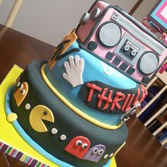 80's Themed Birthday Cake Idea  Total talent on this one!!!!