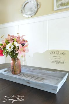 Rectangular Wooden Tray Makeover | The Interior Frugalista