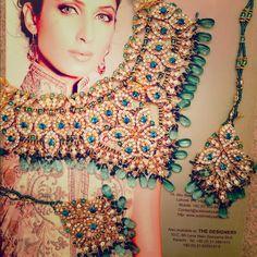 Beautiful rhinestone and stone necklace & earrings Beautiful rhinestone and blue and turquoise crystal and stone necklace and earring set. Jewelry Earrings