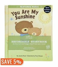 You are my Sunshine Recordable Storybook Book by Jeannie Hund | Hardcover | chapters.indigo.ca