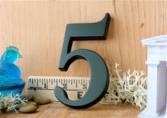 Formal Accountant's Number 5 - Wood Letter. $19.00, via Etsy.
