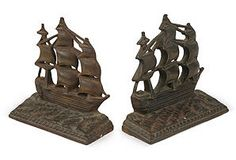 Nautical Bronze Bookends  $129.00
