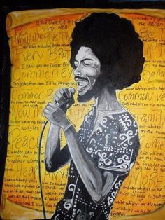 Illustration of Gil Scott Heron. I had the pleasure of meeting Gil..and hugged him too, it was mind blowing..   gwen