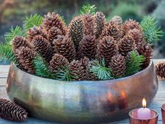 Ideen für die Weihnachtsdekoration - Weihnachtliche Deko mit Fichtenzapfen Best Picture For diy For Your Taste You are looking for som - Deco Floral, Pine Cones, Holidays And Events, Most Beautiful Pictures, Diy And Crafts, Christmas Decorations, Xmas, Christmas Tree, Halloween