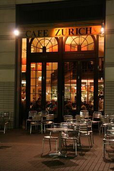 "dentist04: "" Cafe Zurich by Teresa C. In Barcelona """