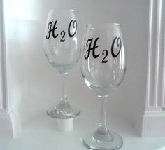 Black Friday Water Glasses H2O water glass by YouniquelyElegant #BlackFriday #CyberMonday