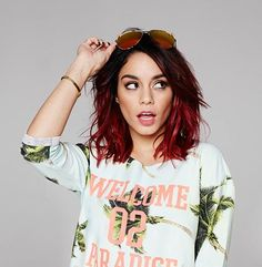"((Vanessa Hudgens)) Vanessa) smiles ""Hey, I'm Vanessa! I'm single and human, but in a few months turning to werewolf. I like to hunt and swim. Come say hi!"""