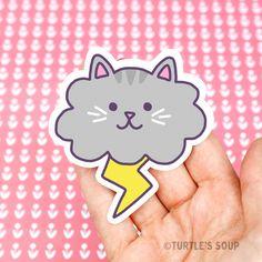 Cloud Cat Cat Vinyl Sticker