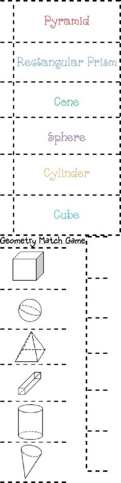 geometry match for Math Journals by janelle