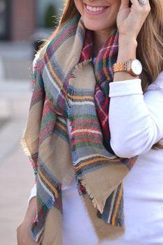 Fashionable Tartan Design Scarf For Women