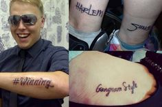 These very well-timed tattoos: