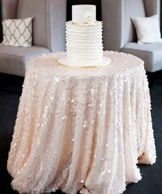 Love the large sequins table cover