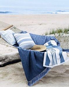 Blue Beach Towels