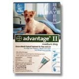 Advantage II for Dogs (Teal), 11-20 lbs, 4 month