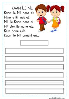 """""""Kaan ile Nil"""" Reading and Writing Text has been added to the file in pdf format. Baby Development In Womb, Mom Advice, Statements, Classroom Activities, Primary School, Baby Feeding, Motivation, Kids Learning, Preschool"""