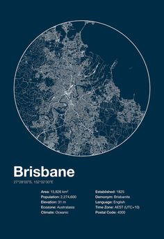 Street Map Art City Print Brisbane by EncoreDesignStudios on Etsy