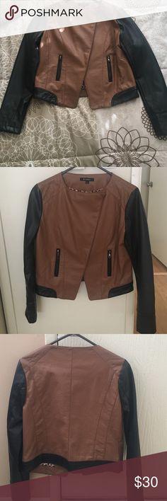 Selling this Faux-leather jacket on Poshmark! My username is: yeramm. #shopmycloset #poshmark #fashion #shopping #style #forsale #Jackets & Blazers
