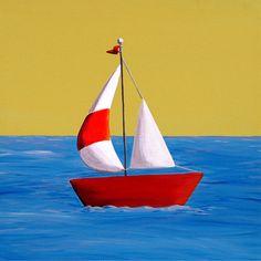 Lil Sailboat Painting