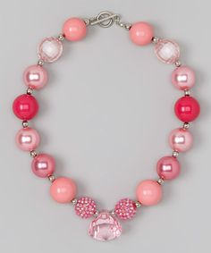 For Little girls: Take a look at this Hot Pink Necklace by Diva Daze on #zulily today!