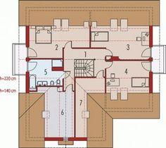 O casa de vis cu 4 dormitoare mansarda si garaj - proiect detaliat cu fotografii Archi Design, Small House Design, Floor Plans, Design For Small House, Small Home Design, Floor Plan Drawing, House Floor Plans