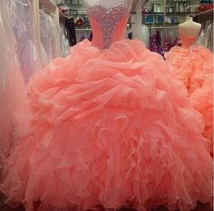 New Quinceanera Dresses Formal Prom Party Ball Gown Sweet 15 Quinceanera Gowns Organza Ruched Sweet 16 Online with $146.86/Piece on Queenwedding's Store | DHgate.com
