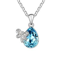 """NEEMODA """"Miss Butterfly"""" Blue/Purple/Pink Austrian Crystal Pendant Necklace with Butterfly Charm 17+2 inches Luxury Gift Packing Environmental Friendly Triple Layers Gold Plating Amazon Price: $25.99 $25.99 You save: $114.00 (81%). (as of June 13, 2016 10:48 - Details). Product prices and availability are accurate  Read more http://cosmeticcastle.net/jewelery/neemoda-miss-butterfly-bluepurplepink-austrian-crystal-pendant-necklace-with-butterfly-charm-172-inches-luxury-gift-pa"""